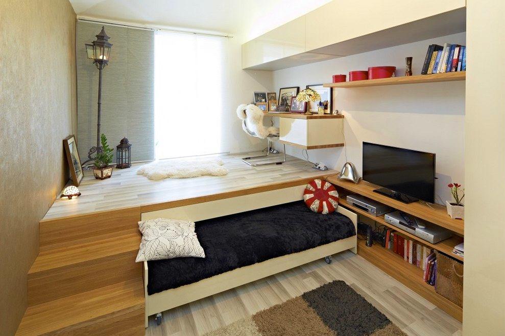 Выдвижная двуспальная кровать подиум своими руками